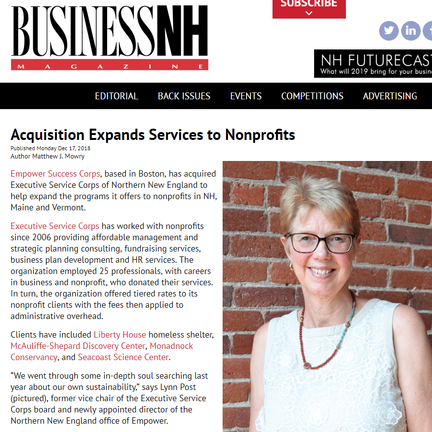 ESC Profiled in Business NH Magazine